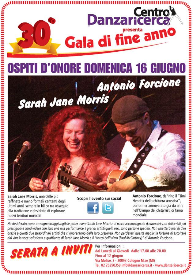 locandina Sarah Jane Morris e Antonio Forcione al saggio 2013 CDR